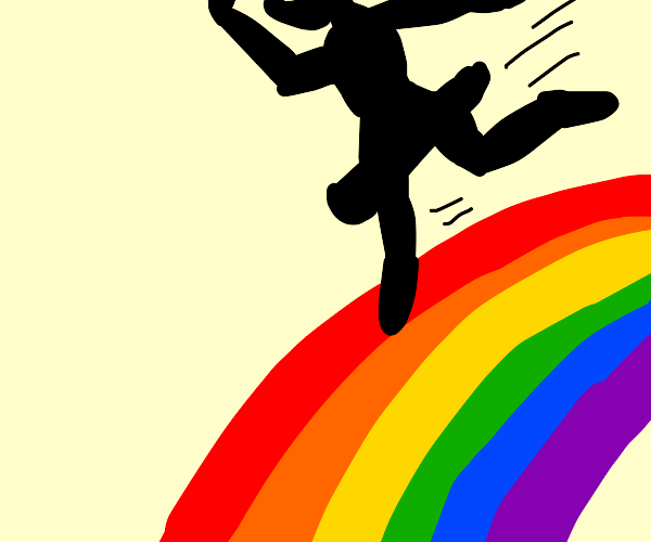 shadow ballerina dances on a rainbow