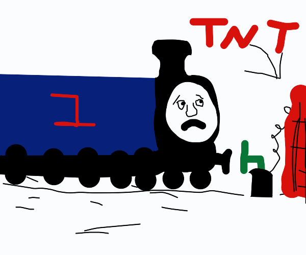 Thomas the Tank Engine thwarted by TNT