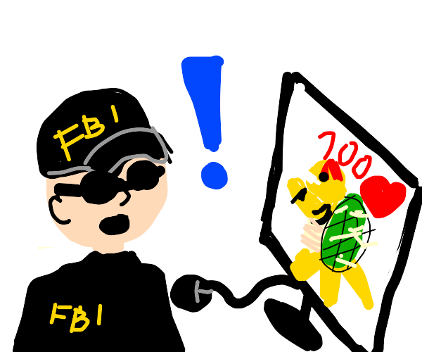 fbi suprised that bowser has 100 likes