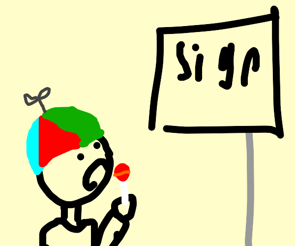 Kid sees sign