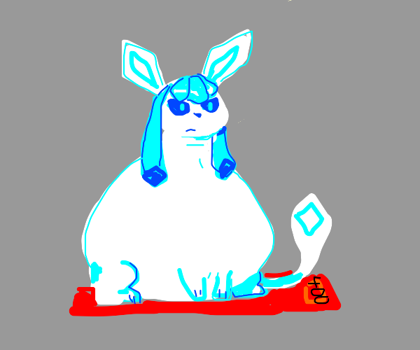A fat glaceon