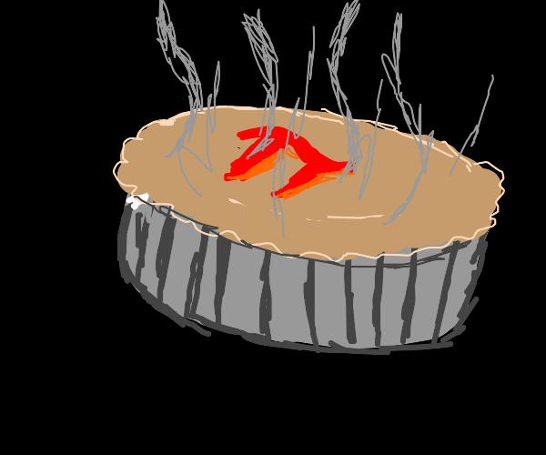 a nice steaming hot pi pie