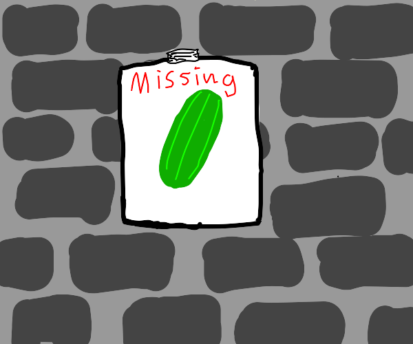 missing poster for cucumber