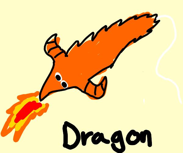 Dragon worm on a string