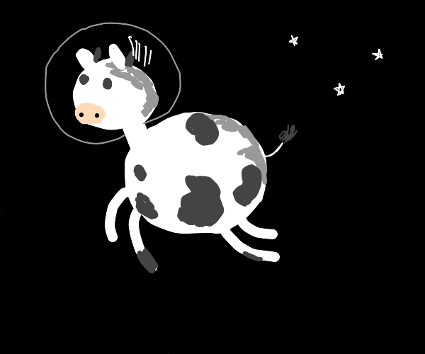 Happy space cow