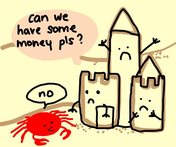 Sad castle is very broke indeed