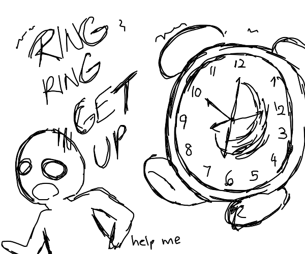 Being chased by a giant clock