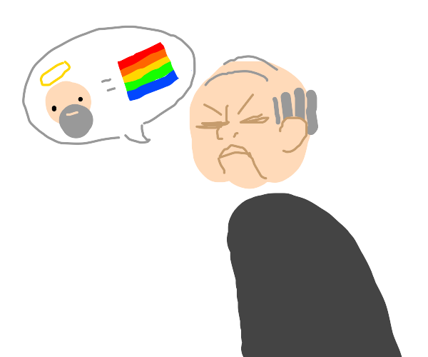 old man saying that god is gay