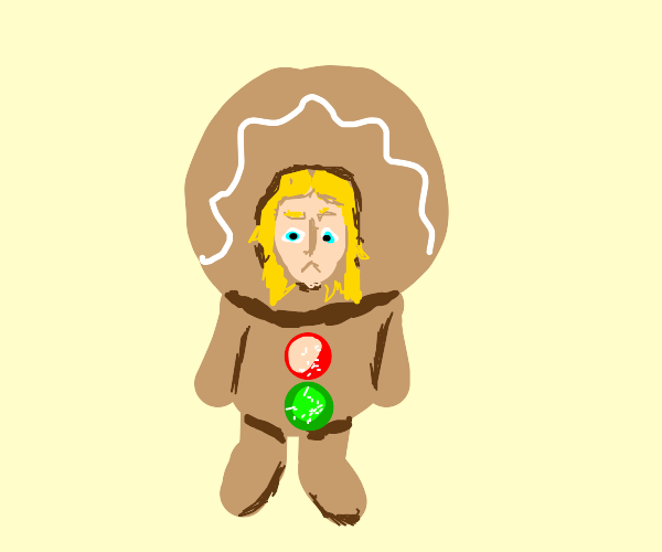 Girl in gingerbread outfit