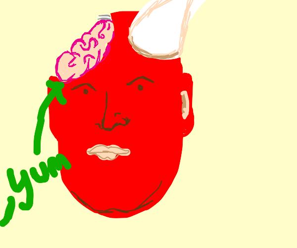 satan's brain is a zombie's weakness