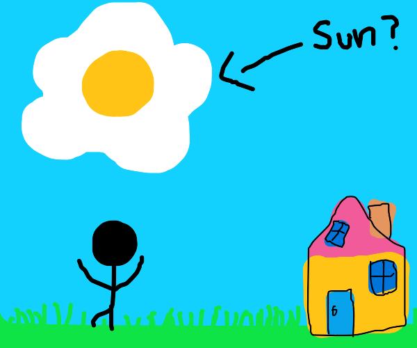 the sun is an egg