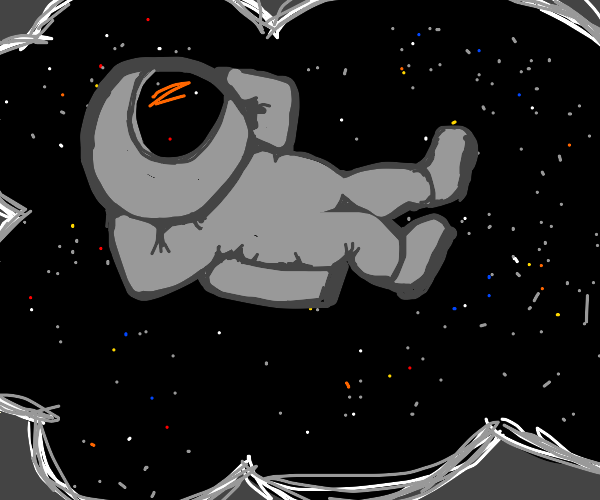 Dream of being astronaut floating in space
