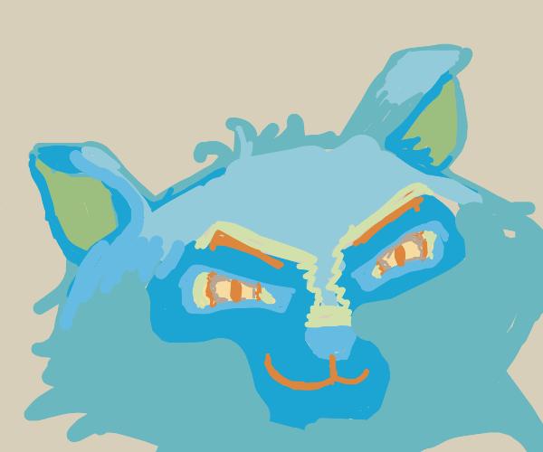 Cat grins menacingly