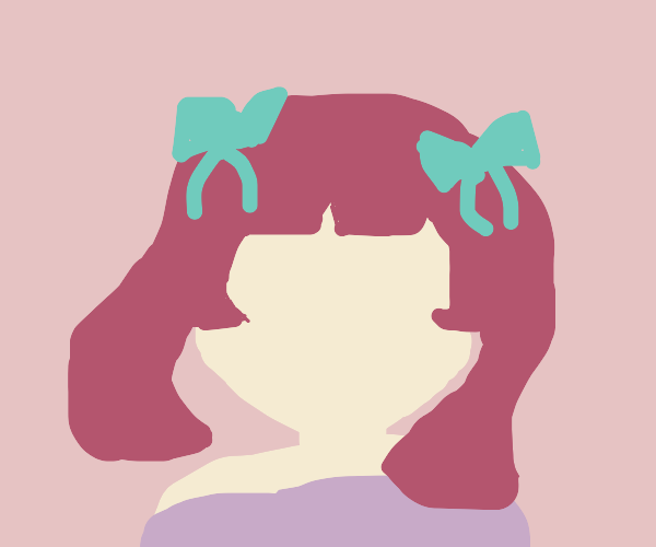 cute girl w pigtails