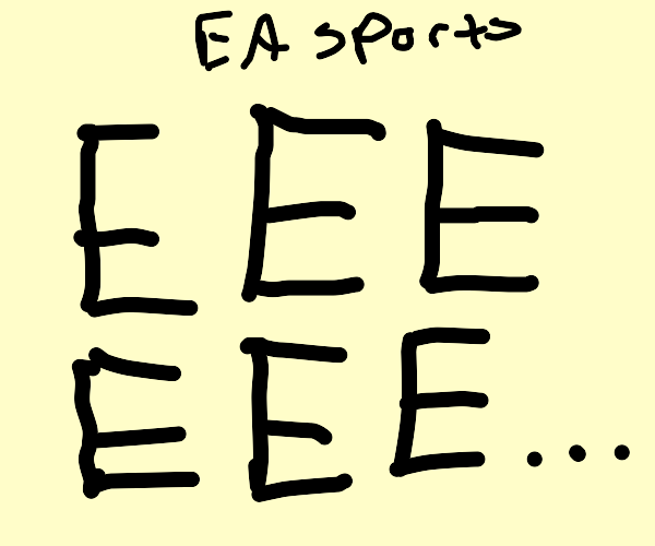 EA sports but the A is silent