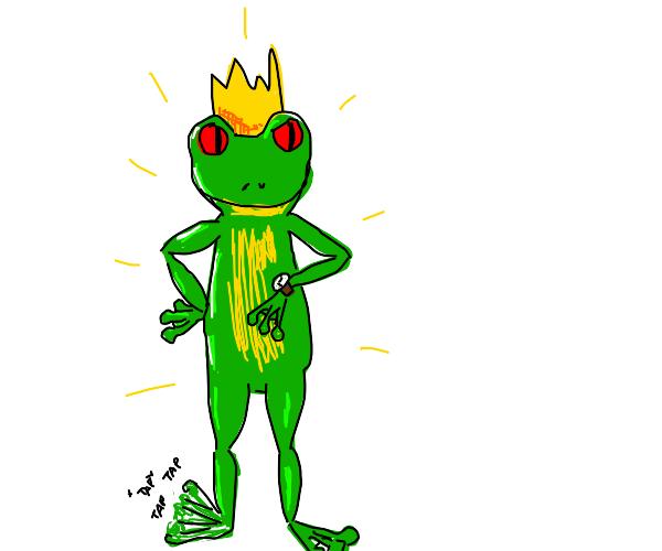 shiny frog prince waiting for smth
