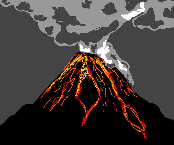 Volcano eruption + Smoke
