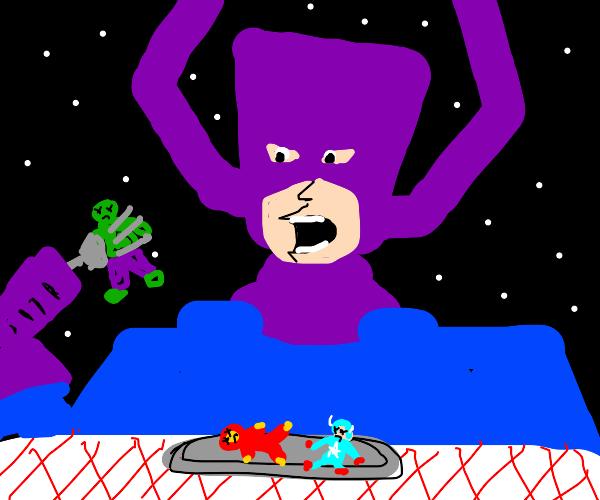 eating super-heros
