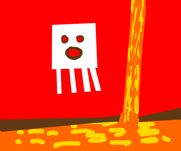 Minecraft Ghost in Lava