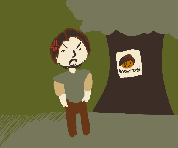 Flynn Rider complaining about the wanted sign