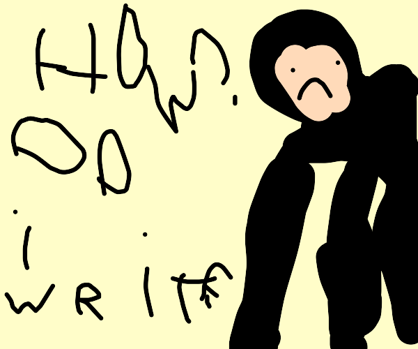 Harambe doesn't know how to write