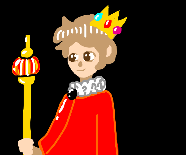king with golden staff