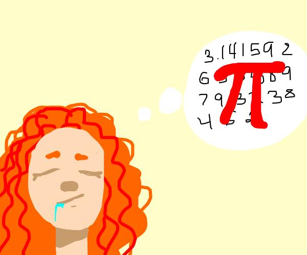 Women thinks of Pi
