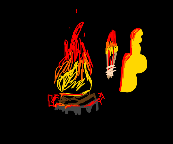 camfire and torch