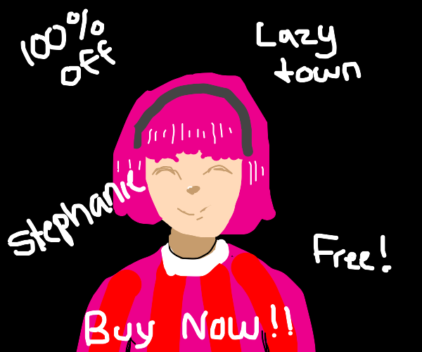 buy stephanie from lazy town for free!