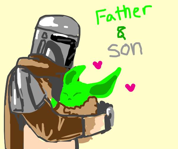 Draw Mando&Baby Yoda to cure my depression