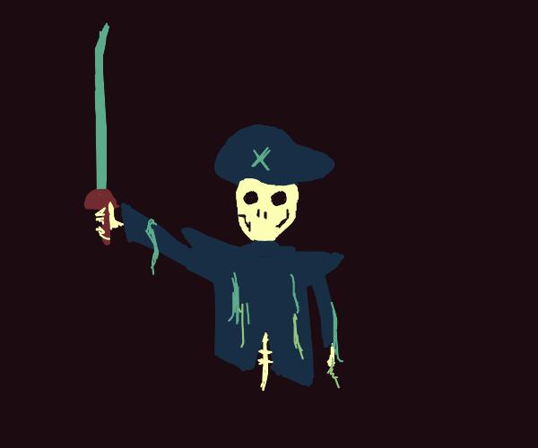 Spooky pirate skeleton