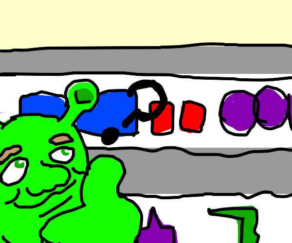 Shrek grocery shopping