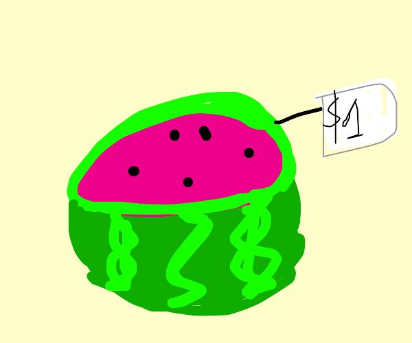 Watermelon sold in $1
