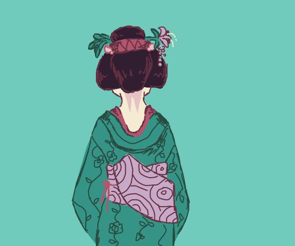 geisha heading out