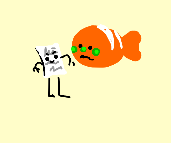 Nemo gets poisoned by paper
