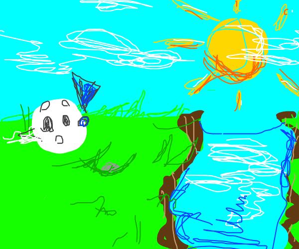 Oh! A lake!