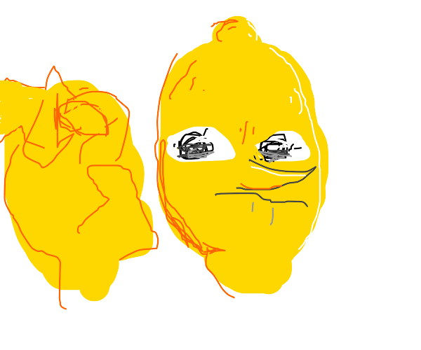 Evil lemonhead (adventure time) grabs you