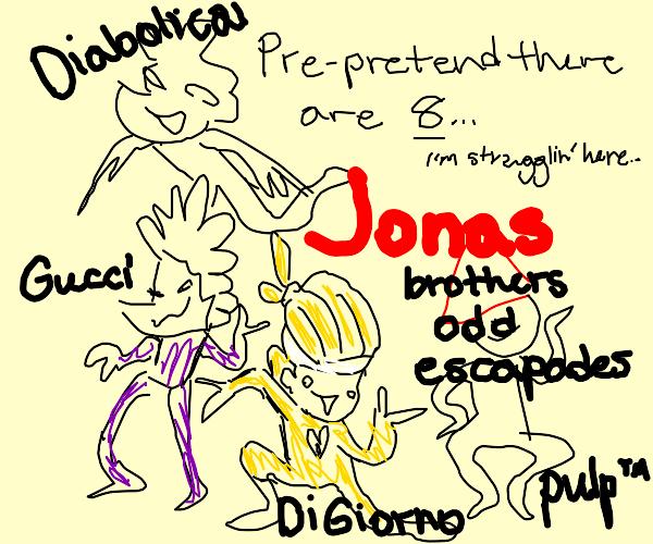 8 jojo characters