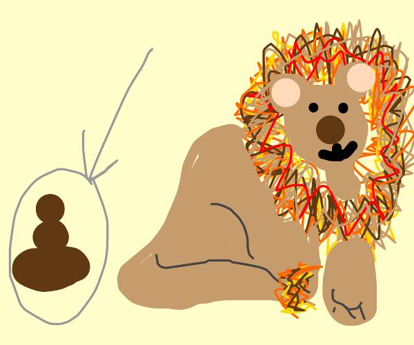 lion poop