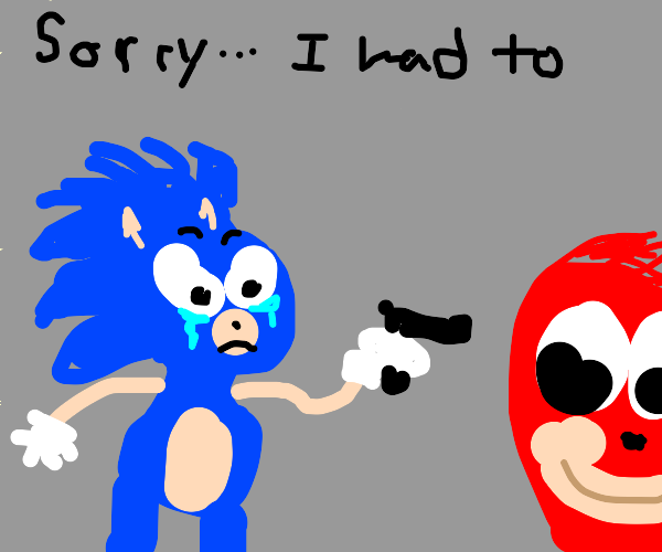 Sonic forced to shoot somebody