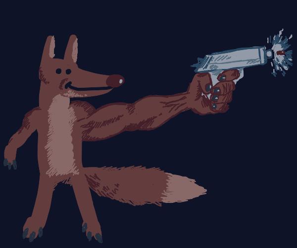 fox holds a gun