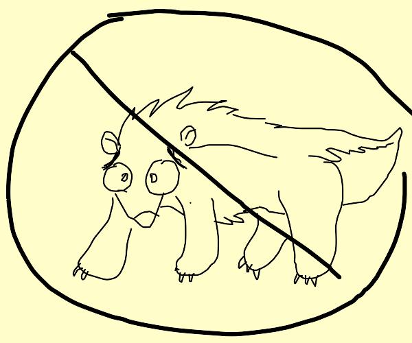 delete this hedgehog-badger-bear-skunk!!