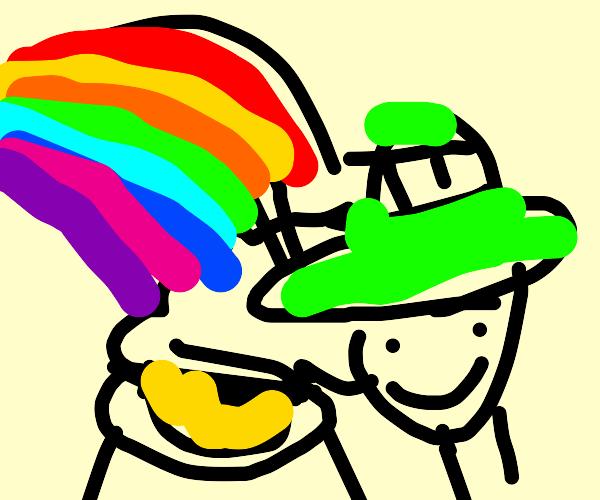 Leprechaun under the Rainbow