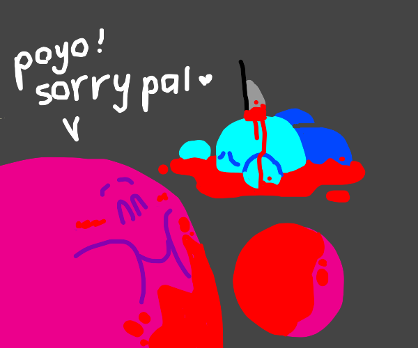 Kirby kills blue Kirby