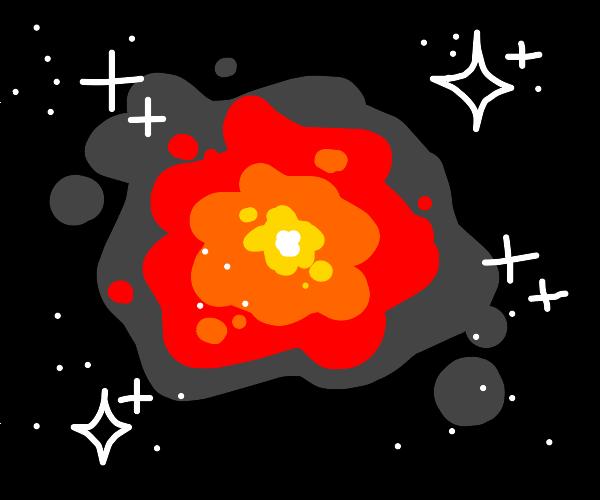 Fiery nebula