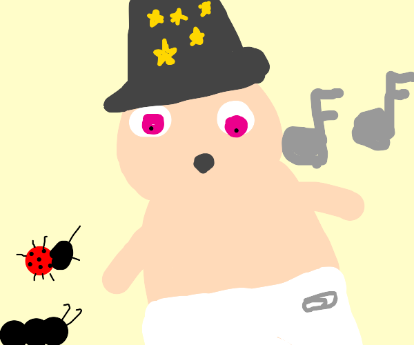 baby wizard whistles for his bug friends