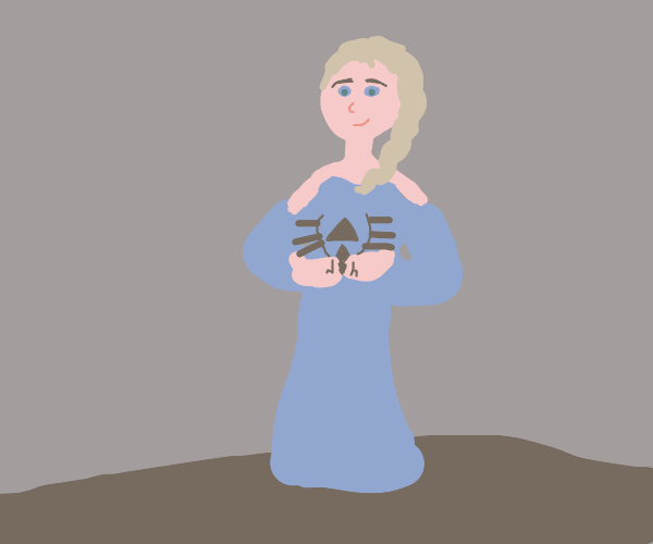 Elsa holding Zelda Symbol