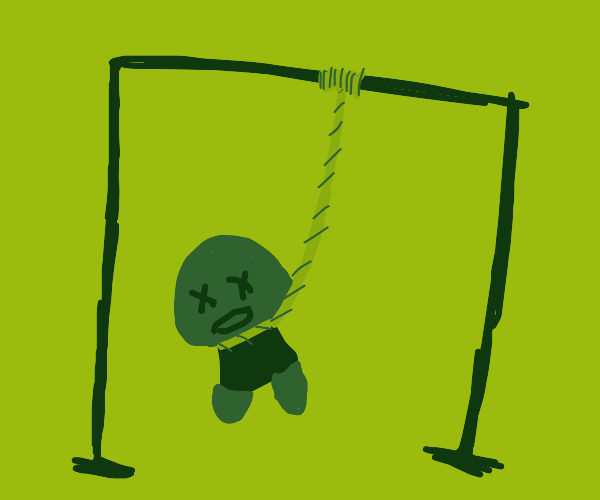 A Goomba Hanging Itself