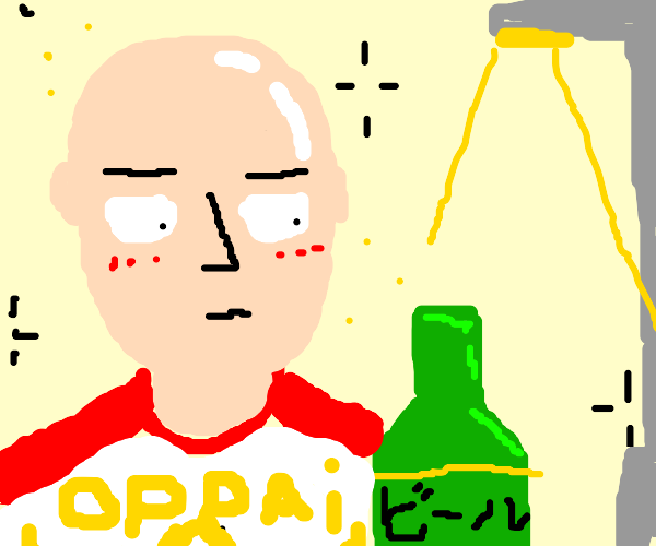 anime man gets drunk