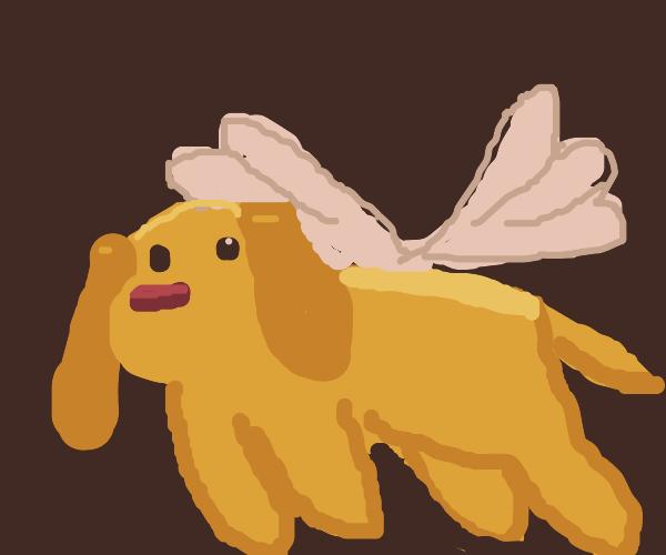 Cute doggo with wings